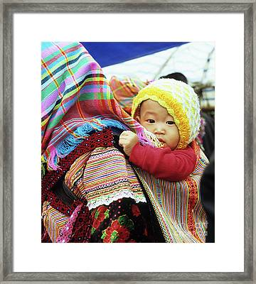 Flower Hmong Baby 04 Framed Print by Rick Piper Photography