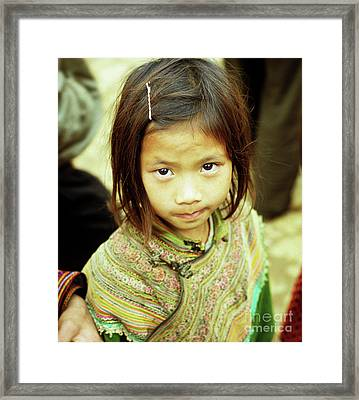 Flower Hmong Girl 02 Framed Print by Rick Piper Photography