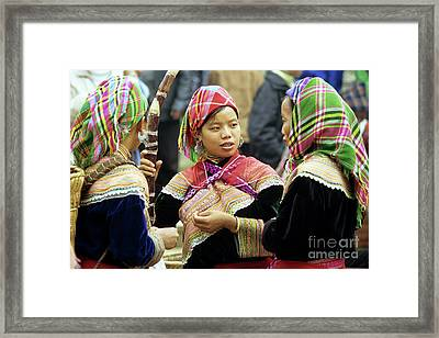 Flower Hmong Women Framed Print by Rick Piper Photography
