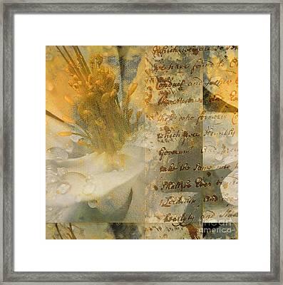 Flower II Framed Print by Yanni Theodorou