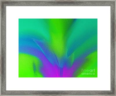Flower In Bloom Stage 2 Abstract Framed Print by Andee Design