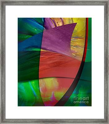 Flower In Dance Framed Print