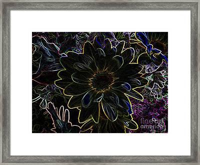 Flower In Fireworks Framed Print