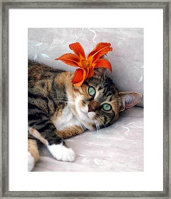 Flower In My Hair Framed Print by Kathleen Struckle