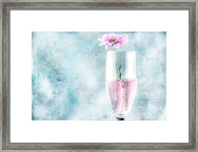 Flower In The Drink Framed Print