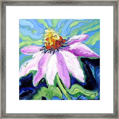 Flower Framed Print by Isabelle Gervais