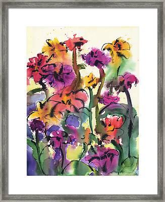 Flower Jam Framed Print by Amy Chrisman