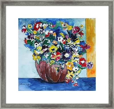Flower Jubilee Framed Print by Esther Newman-Cohen