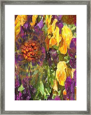Framed Print featuring the digital art Flower by Kelly McManus