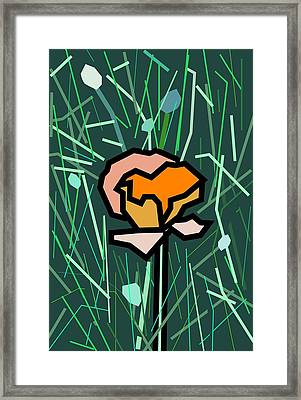 Flower Framed Print by Kenneth North