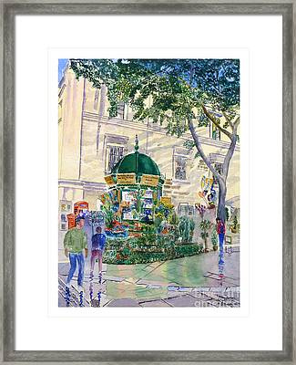 Flower Kiosk Framed Print