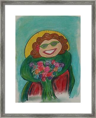 Flower Lady Framed Print by Erica Simons
