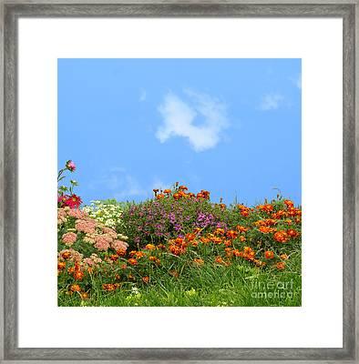 Flower Landscape Art Framed Print by Boon Mee