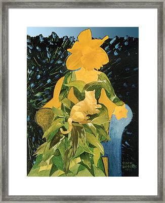 Flower Lovers Framed Print by Eve Riser Roberts