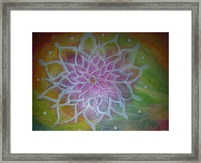 Flower Mandala Framed Print