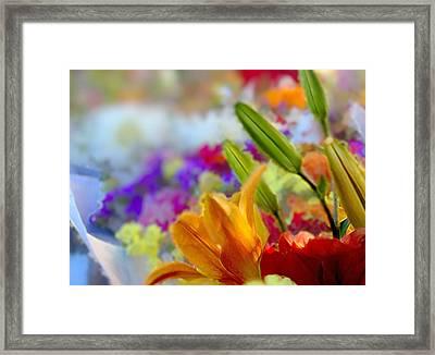 Flower Market 1 Framed Print