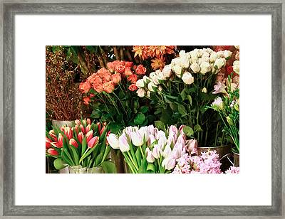 Flower Market Framed Print by Ann Murphy