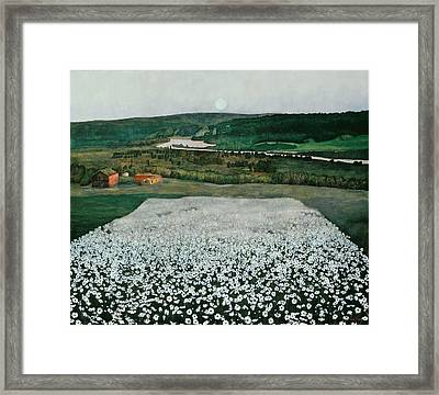Flower Meadow In The North Framed Print by Harald Sohlberg