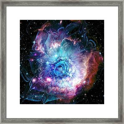 Flower Nebula Framed Print by Anastasiya Malakhova