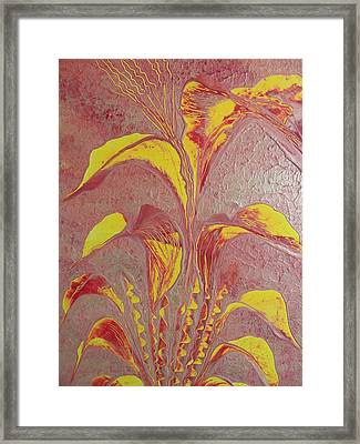 Framed Print featuring the painting Flower by Nico Bielow