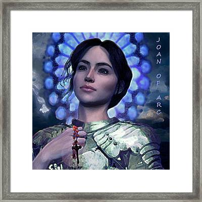 Joan Of Arc Flower Of France Framed Print by Suzanne Silvir