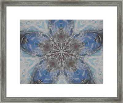 Flower Of Life Framed Print by Erica  Darknell