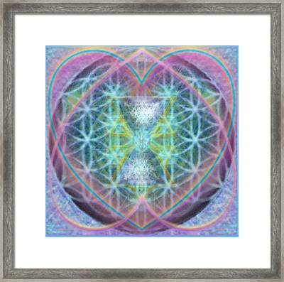 Flower Of Life Forested Chalice In Passion Brights Framed Print by Christopher Pringer