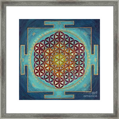Flower Of Life - I Ching Framed Print