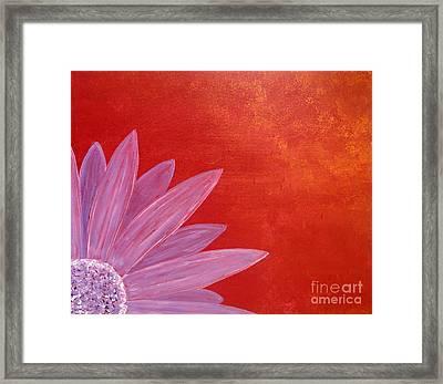 Flower On Metallic Background Framed Print
