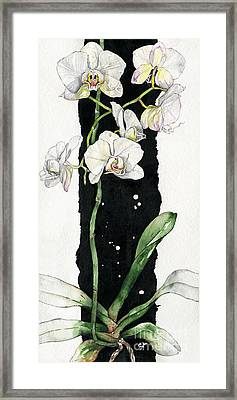 Framed Print featuring the painting Flower Orchid 05 Elena Yakubovich by Elena Yakubovich