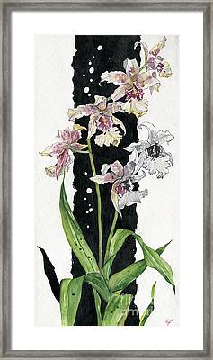 Framed Print featuring the painting Flower Orchid 06 Elena Yakubovich by Elena Yakubovich