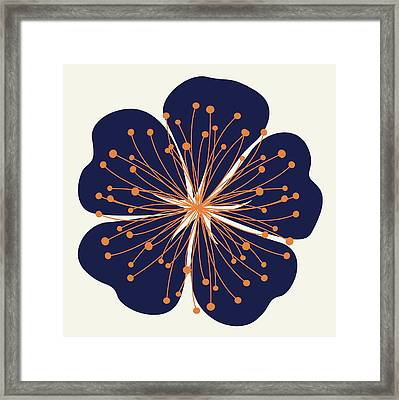 Flower Outline 2e Framed Print