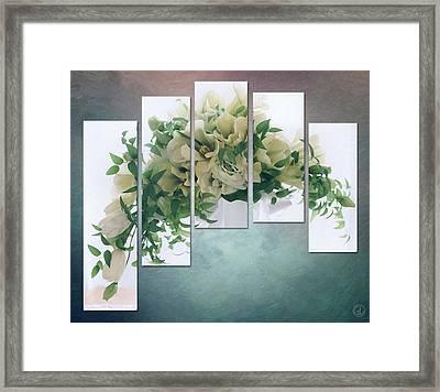 Flower Panels Framed Print