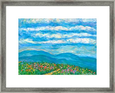 Flower Path To The Blue Ridge Framed Print