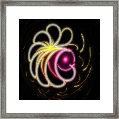 Flower Petals - A Fractal Design Framed Print