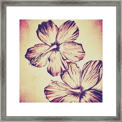 Flower Play 6 Framed Print