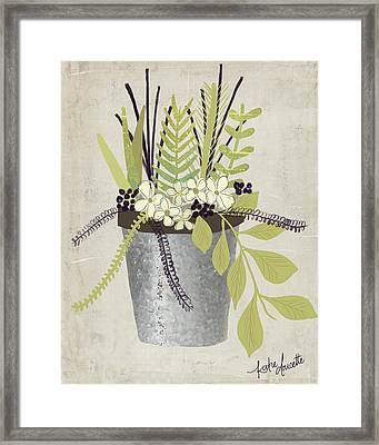 Flower Pot Framed Print