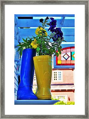 Flower Pots... Framed Print