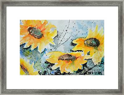 Flower Power- Floral Painting Framed Print by Ismeta Gruenwald