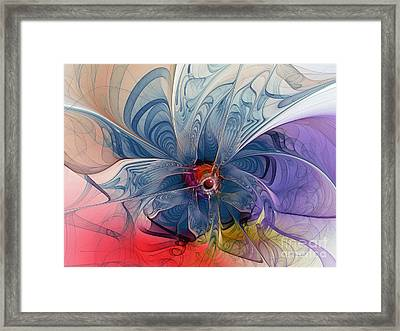 Flower Power-fractal Art Framed Print by Karin Kuhlmann