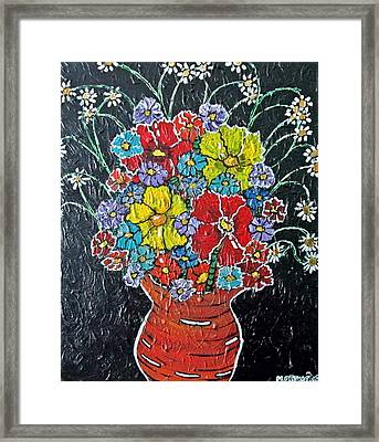 Flower Power Framed Print by Matthew  James