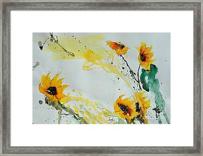 Flower Power- Sunflower Framed Print