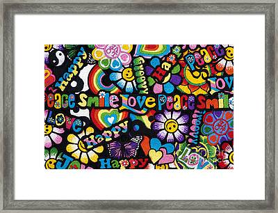 Flower Power Framed Print by Tim Gainey