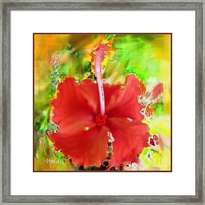 Flower Red Framed Print by Nedunseralathan R