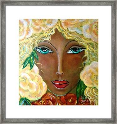 Flower Ritual Framed Print