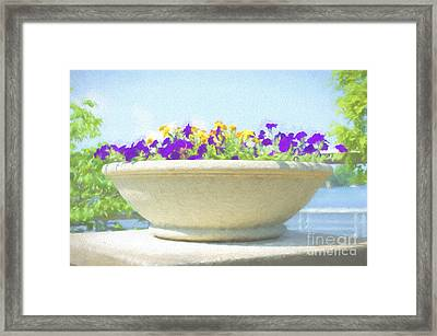 Flower - River View Delight - Luther Fine Art Framed Print by Luther Fine Art