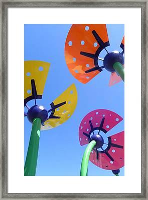 Flower Sculpture Framed Print