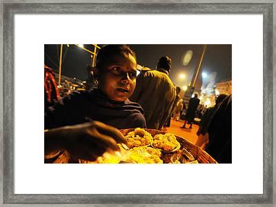 Flower Seller Framed Print by Money Sharma