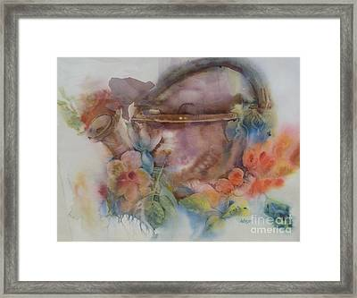 Flower Selva Framed Print by Donna Acheson-Juillet