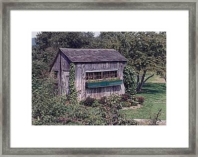 Flower Shed Framed Print by Glenn Cuddihy